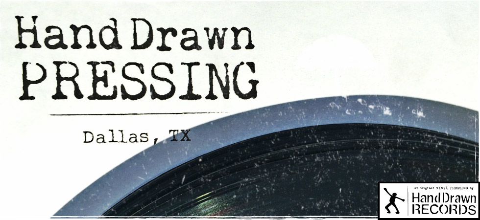 Hand Drawn Pressing // Independent Vinyl Record Pressing Service // Dallas, TX
