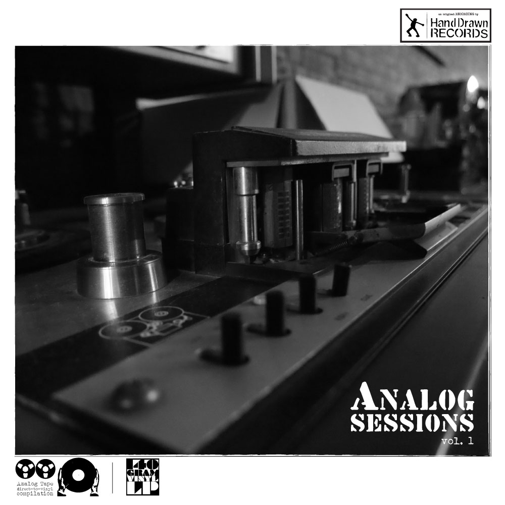 """Analog Sessions, Volume 1"" by Various Artists // Hand Drawn Records // FRONT COVER"