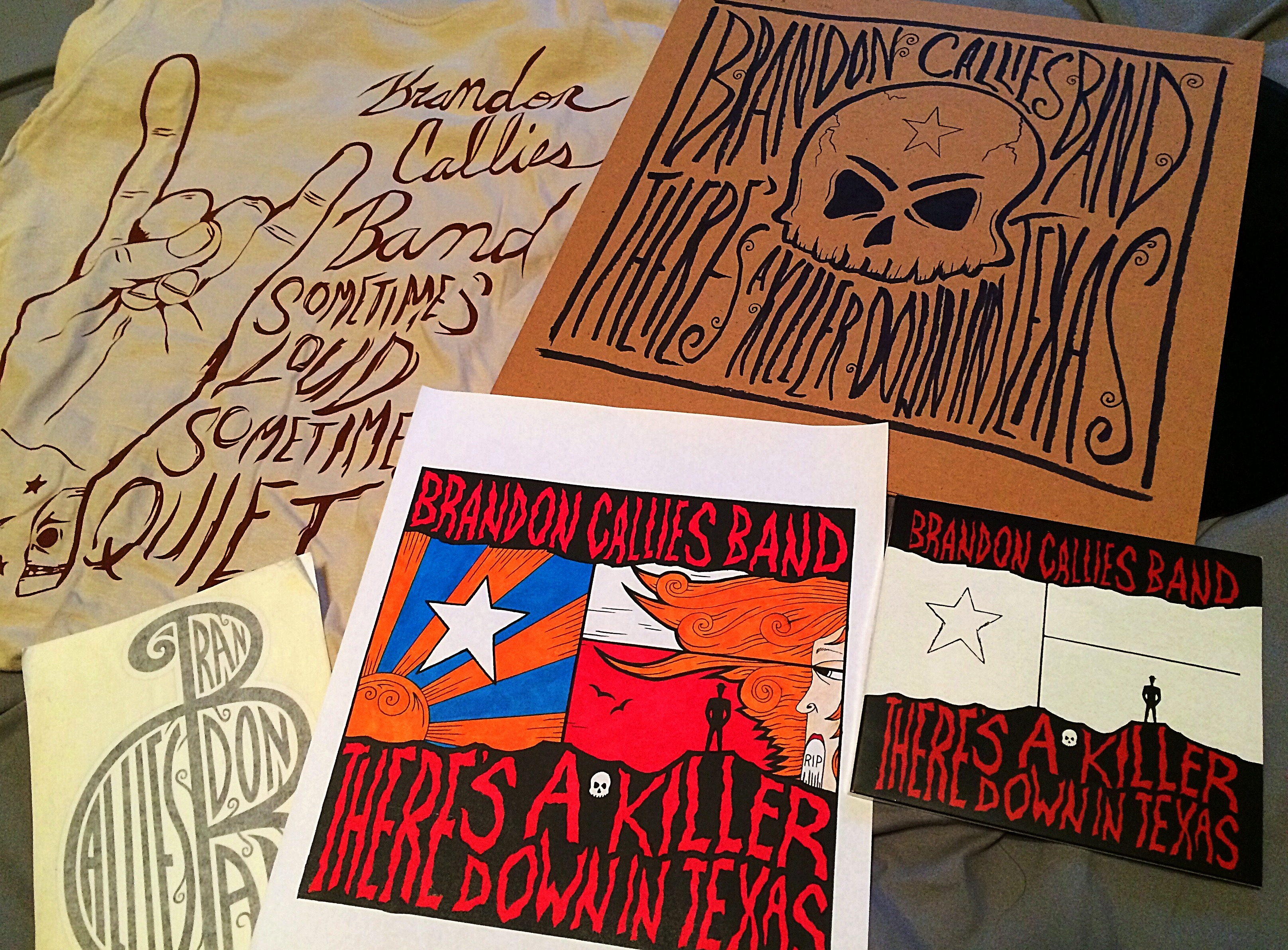 """There's a Killer Down in Texas"" by Brandon Callies Band // Merchandise"
