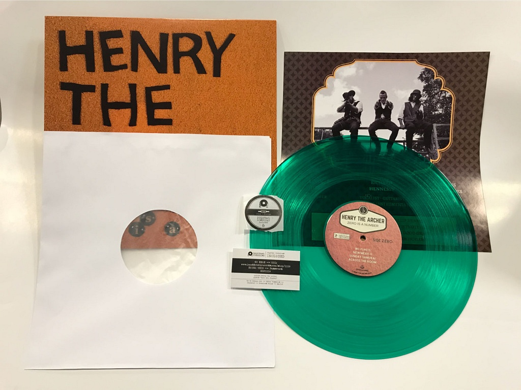 """Zero is a Number"" LP by Henry the Archer // Hand Drawn Records"