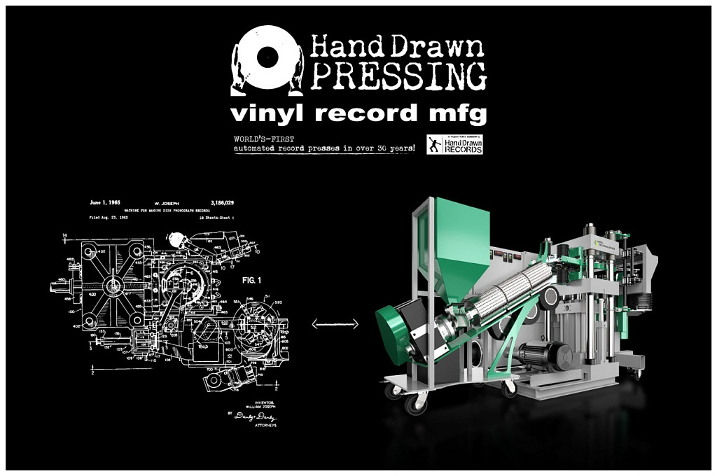 Hand Drawn Pressing: Vinyl Record Pressing Facility (Dallas, TX)